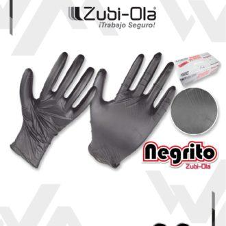 "Guantes de Nitrilo Negro Caja x 100 unidades Zubiola ""Negrito"""